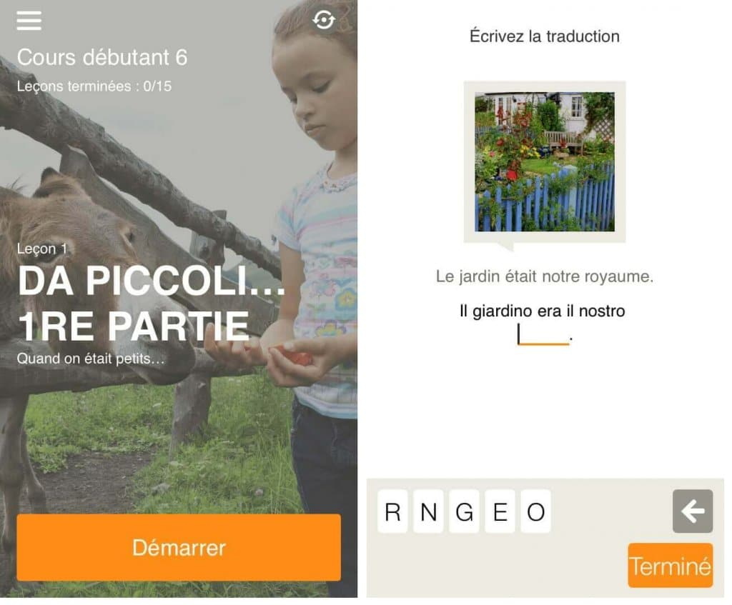 Babbel application langue