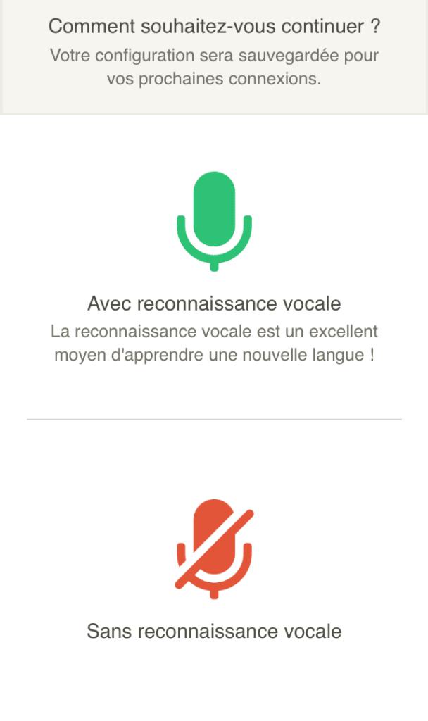Reconnaissance vocale de Babbel