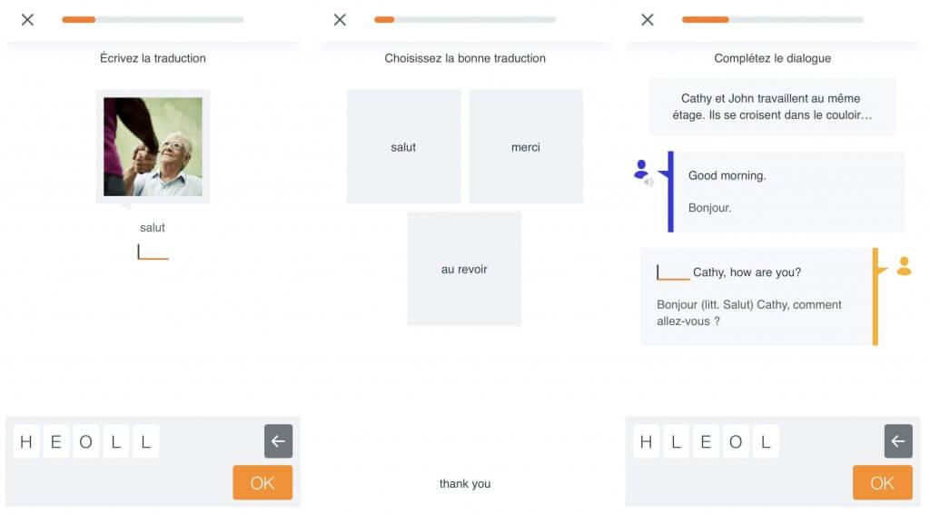 Babbel_structure des cours