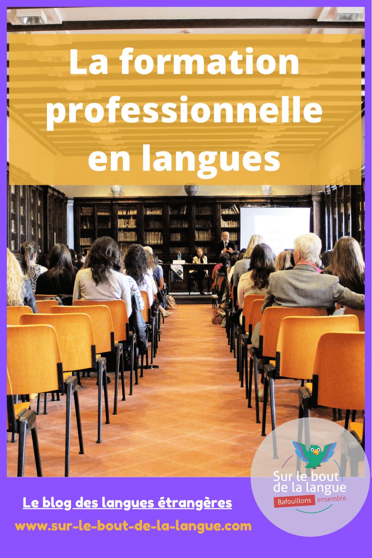 formation professionnelle en langues